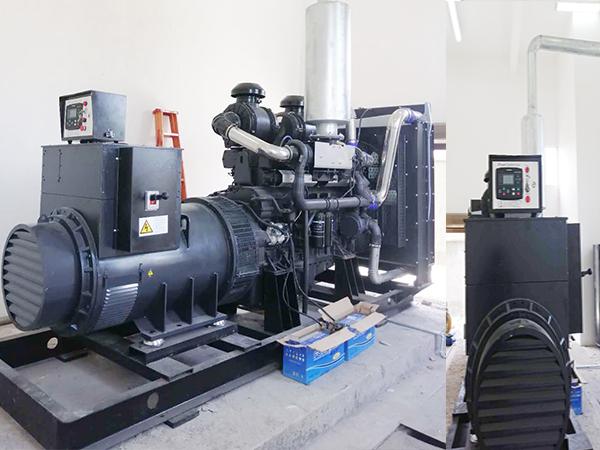 640KW上柴股份发电机组安装完成