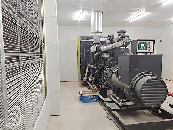 800千瓦上柴股份发电机安装完成