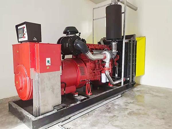 卫生院400KW全自动发电机组安装完毕